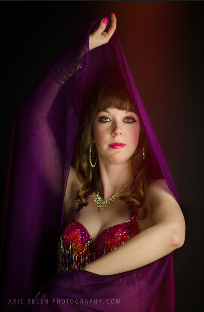 Dancer with veil