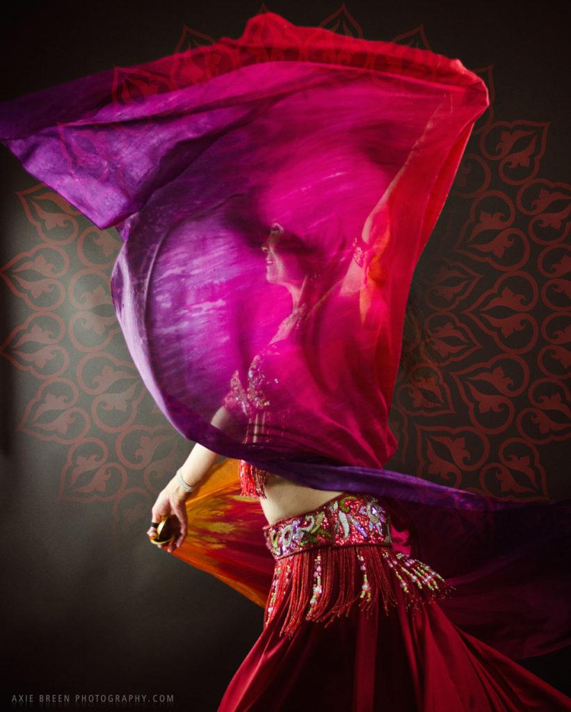 belly dance artist veil